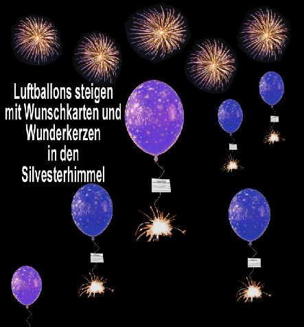 Luftballons-steigen-mit-Wunschkarten-im-Silvesterhimmel
